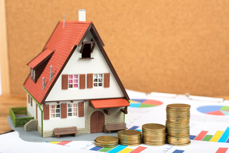 Home and Money for your good real estate Archivio Fotografico