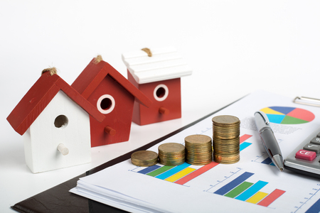 Home and Money for your good real estate Stock Photo