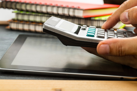 Calculate your budget for check your business 스톡 콘텐츠