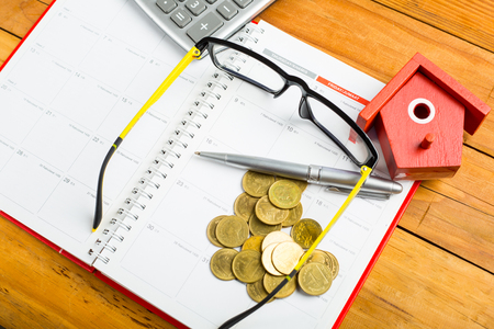 first australians: Finance calculate your budget on table.