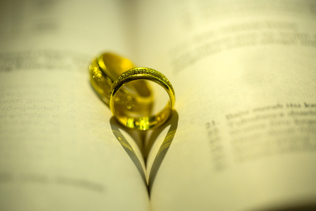 jewelry: Wedding rings ,jewelry for engagement and get marry. Stock Photo
