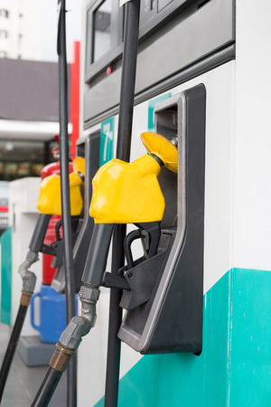 biodiesel: Fuel station service fill energy into your car at gas station Stock Photo