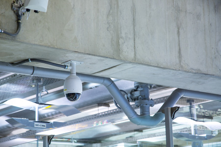 safety check: CCTV of Airport for check area safety. Stock Photo