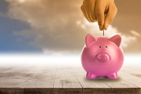 money concept: Piggy bank for save your money concept.