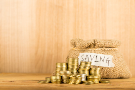 future earnings: Save money for prepare in the future. Stock Photo