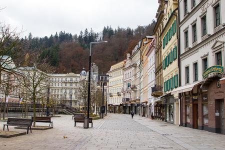 karlovy: KARLOVY VARY ,CZECH REPUBLIC - Nov 11 ,2558 :View building Karlovy vary for tourist travel in Czech republic.