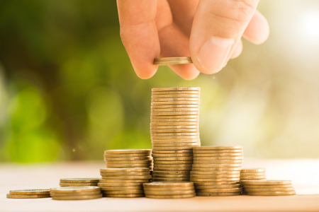 money hands: Save money with stack money coin for growing your business