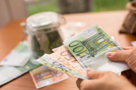 banco dinero: banco euro del dinero para su presupuesto de inversión.
