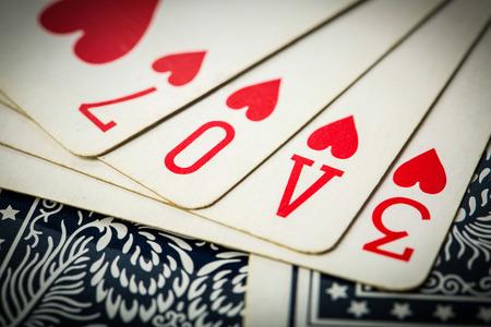 jeu de carte: poker jeu de cartes organiser texte d'amour pour le jour de valentine.