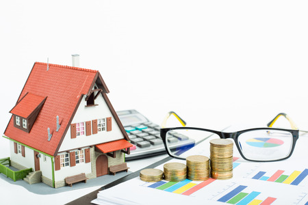 Home and Money for your good real estate Standard-Bild