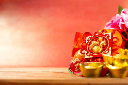 Chinese new year decoration with character