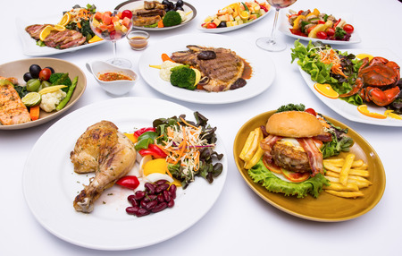 western food: Western food style with white background.