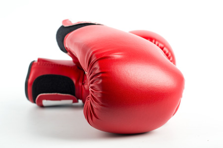 boxing glove: Boxing gloves isolated with white background.