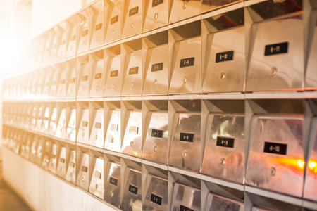 Mail boxes postal for get your information.