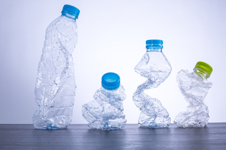 reciclable: Recycle bottles used plastic can recyclable waste.