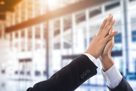 Give me five your hand for good business. Stock Photo