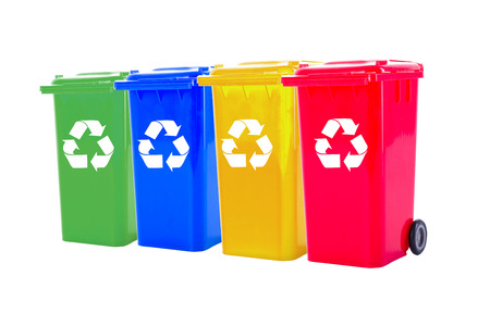 recycling: Recycle bin colorful  for trash your garbage and seperate type object for reuse protect our environment.
