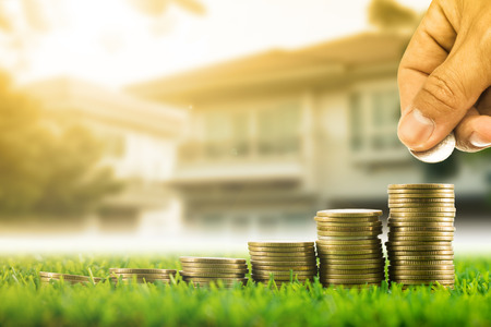 Investment your budget for growing your business Foto de archivo