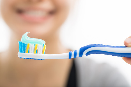 Toothbrush dental care for your healthy mouth concept Foto de archivo