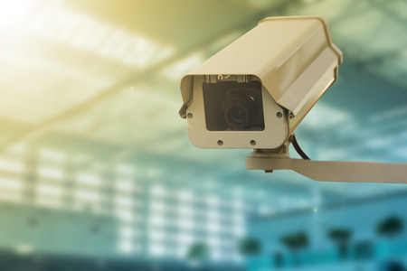 security monitor: CCTV security camera record video for monitor your office Stock Photo