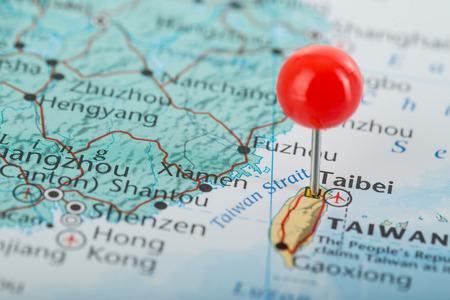 pin point: Taibei pin point famous city of Taiwan Stock Photo