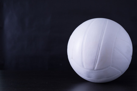 Volley: volley ball sport with black ground. Stock Photo