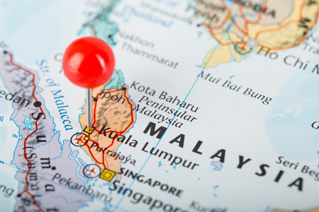 pin point: Pin point at Kuala Lumpur city centre in Malaysia. Stock Photo