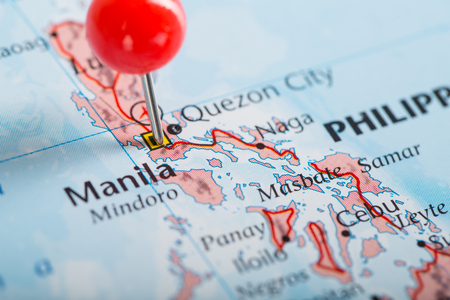 pin point: Manila  pin point famous city in Philippines