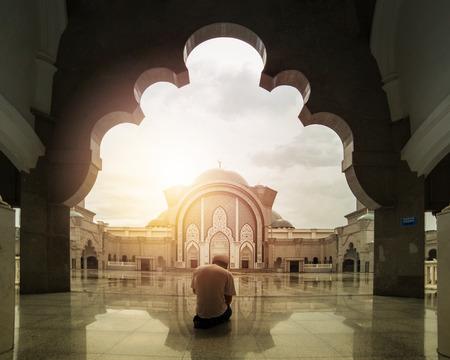 Malaysia muslim people pray in Mosque Wilauah Kuala lumpur.
