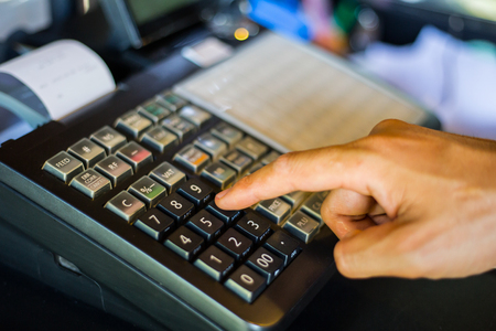 numpad: Cash Machine was used by Customer and operator in super store