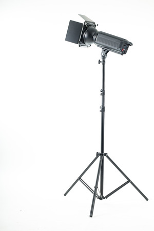 strobe lights: Studio light isolated with white background.