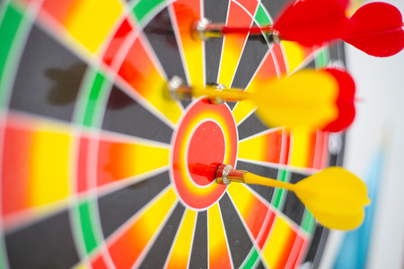 marketing target: Target arrow aim to center goal market for hit the success concept.