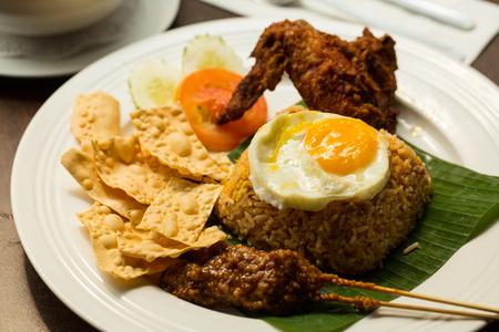 Nasi lemak rice malaysia traditional asian food. Stock Photo