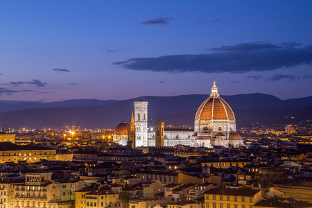 Florence duomo landmark cathedral building city in Italy. Stock Photo