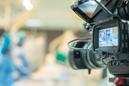 TV onair for Conference VDO for doctor use percutaneous tranluminal coronary angioplasty to operate patient who is heart disease . Standard-Bild