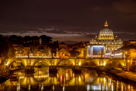 Saint Peter Church landmark history architecture building in Rome ,Italy Stock Photo