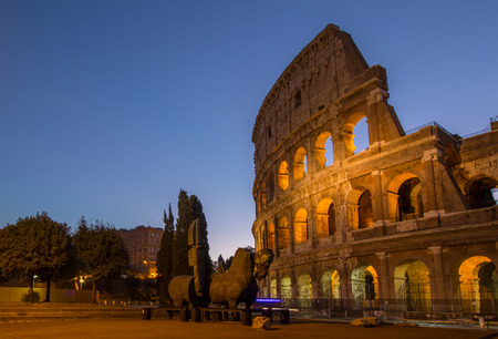 come in: Colosseum rome view ,history famous landmark historic of italy.Italian and tourist people come to visit in this building. Stock Photo