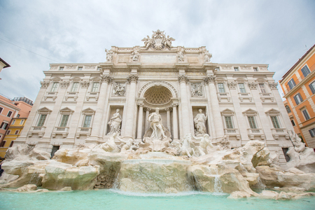 Fontana di trevi where is landmark architecture of fountain and very famous tourism people visit in this place in Rome ,Italy. Stock Photo