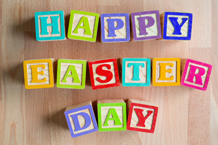 Happy easter day ,cute text colorful season festival.