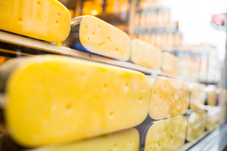 dutch typical: Cheese dutch dairy food in Netherlands. Stock Photo