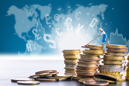 Money finance management for your bank Stock Photo