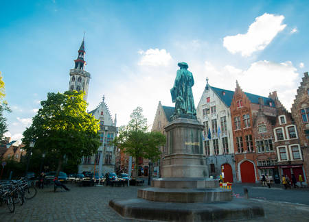 BRUGE,BELGIUM - April 25 ,2017: Heritage city Bruge small town where tourist people come to visit this place ,Belgium. Editorial