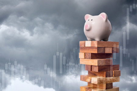 Risk business investment  your money for management your finance. Stock Photo