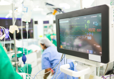 Monitor heart rate for surgery in operate room.