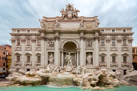 Trevi Fountain  or Fontana di Trevi where is landmark of Rome ,Italy. Stock Photo