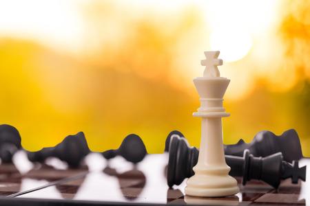 체스 게임으로 경쟁 비즈니스 개념입니다.