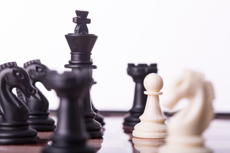 power: Competition chess business concept for your leadership for success game. Stock Photo