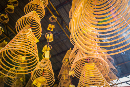Chinese Incense coils in Penang Malaysia.