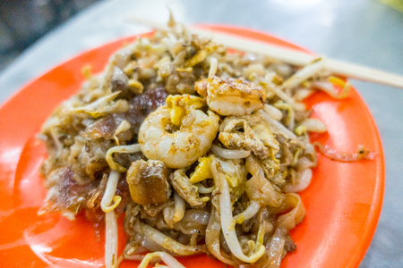 Penang noodle food for lunch in Malaysia. Stock Photo
