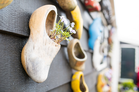Netherland souvenir wood shoe in Keukenhof ,Holland
